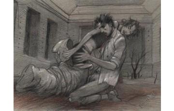 Affiche d'art 'Mort' - Enki Bilal