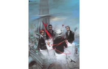 Affiche d'art 'Quatre, couverture' - Enki Bilal