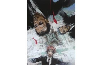Affiche d'art 'Rendez vous à Paris, couverture' - Enki Bilal