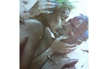 Affiche d'art 'Tu m'aimes black' - Enki Bilal