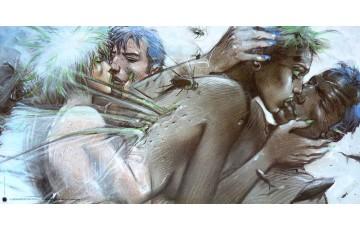 Affiche d'art 'Tu m'aimes' - Enki Bilal
