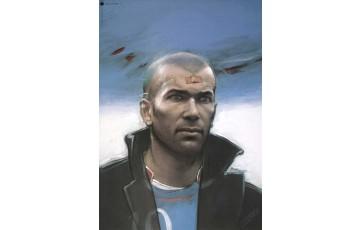 Affiche d'art 'Zinedine Zidane' - Enki Bilal