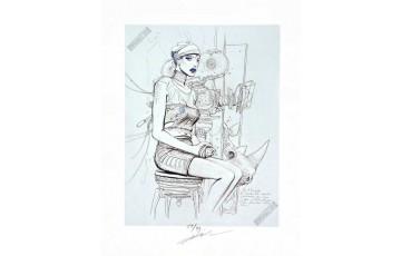 Estampe pigmentaire N°/Signée 'L'inédit' - Enki Bilal