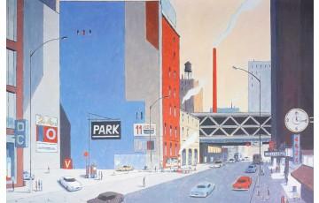 Affiche d'art N°/Signée 'New-York 6424 park' - François Avril