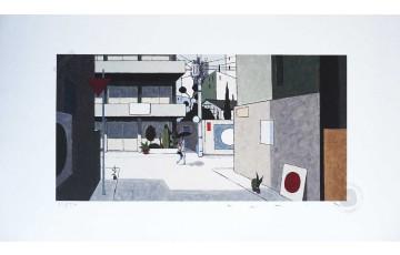 Estampe pigmentaire N°/Signée 'Kagurazaka' - François Avril