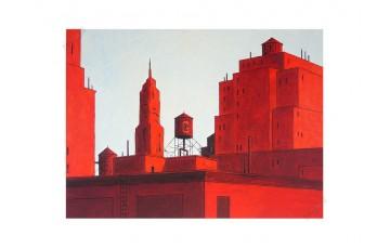Estampe pigmentaire N°/Signée 'NYC rouge' - François Avril