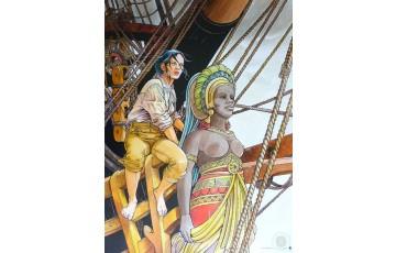 Affiche d'art 'Les passagers du vent, Le bois d'ébène' - François Bourgeon