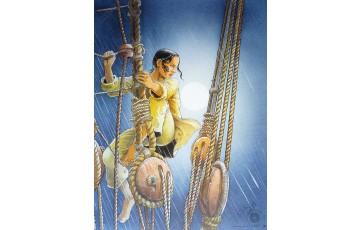Affiche d'art 'Les passagers du vent, La fille sous la dunette' - François Bourgeon
