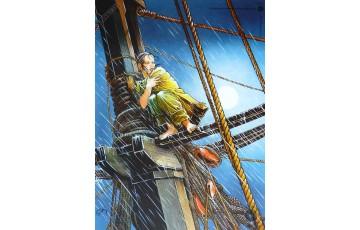 Affiche d'art 'Les passagers du vent, La fille sur la dunette' - François Bourgeon