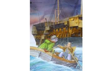 Affiche d'art 'Les passagers du vent, Le ponton' - François Bourgeon