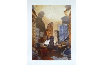 Affiche d'art N°/Signée 'Paul Otlet, Bibliothèque Mundaneum' - François Schuiten