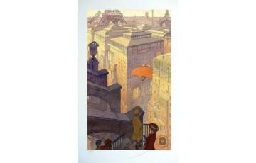 Affiche d'art N°/Signée 'Paris, les halles le jour' - François Schuiten