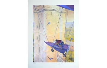 Affiche d'art N°/Signée 'Vincennes 2012, le donjon' - François Schuiten