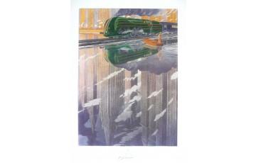 Affiche d'art 'La type 12 reflet' - François Schuiten