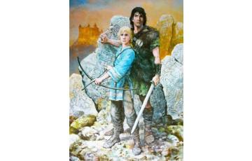 Affiche d'art 'Thorgal, Moi Jolan' - Grzegorz Rosinski