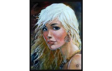 Affiche d'art 'Thorgal, Portrait de Aaricia' - Grzegorz Rosinski