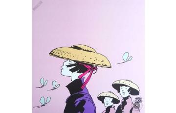 Affiche d'art 'Corto Maltese, Les femmes sans Corto' - Hugo Pratt