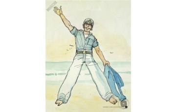 Affiche d'art 'Corto Maltese, Ballada del mare' - Hugo Pratt