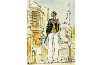 Affiche d'art 'Corto Maltese, La casa dora di samarcanda' - Hugo Pratt