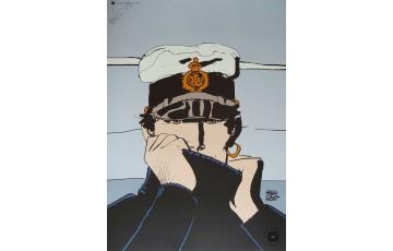 Affiche d'art 'Corto Maltese, Pour Dior gris' - Hugo Pratt