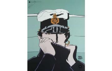Affiche d'art 'Corto Maltese, Pour Dior vert' - Hugo Pratt