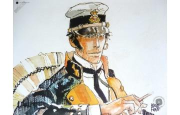 Affiche d'art 'Corto Maltese, Les éthiopiques' - Hugo Pratt
