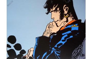Affiche d'art 'Corto Maltese, Un héros, moi' - Hugo Pratt