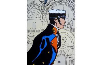 Affiche d'art 'Corto Maltese, Histoire' - Hugo Pratt
