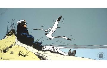 Affiche d'art 'Corto Maltese, Corto Marin' - Hugo Pratt
