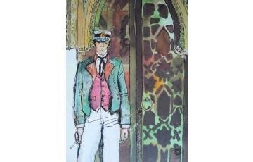 Affiche d'art 'Corto Maltese, Mauresque' - Hugo Pratt