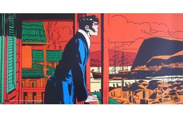Affiche d'art 'Corto Maltese, Mystères' - Hugo Pratt
