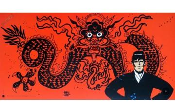 Affiche d'art 'Corto Maltese, Mythologie' - Hugo Pratt