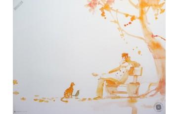 Affiche d'art 'Corto Maltese, Occidente' - Hugo Pratt