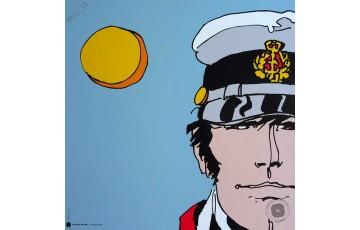 Affiche d'art 'Corto Maltese, Périples secrets' - Hugo Pratt