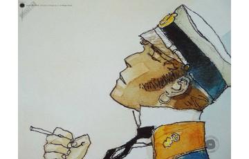 Affiche d'art 'Corto Maltese, Periplo' - Hugo Pratt