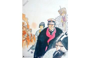 Affiche d'art 'Corto Maltese, Sibérie' - Hugo Pratt