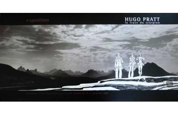 Affiche d'art 'Les scorpions du désert, Sur la trace du scorpion' - Hugo Pratt