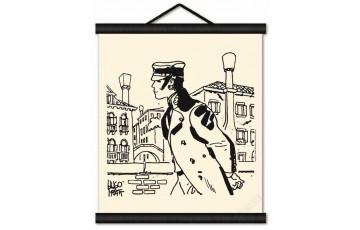 Toile sérigraphiée 'Corto Maltese, Cannaregio' - Hugo Pratt