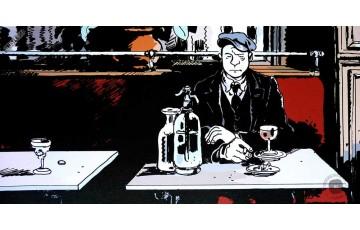 Affiche d'art '1915 au Bistrot' - Jacques Tardi