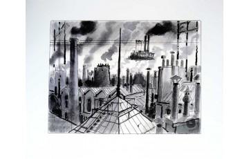 Affiche d'art N°/Signée 'Avril et le monde truqué, Les toits' - Jacques Tardi