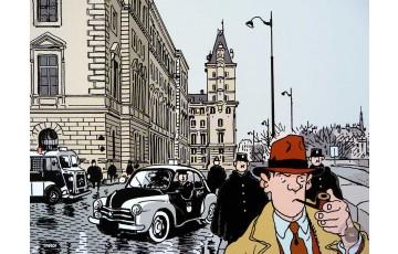 Affiche d'art 'Nestor Burma, 1er arr. de Paris' - Jacques Tardi