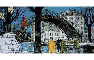 Affiche d'art 'Nestor Burma, 10ème arr. de Paris' - Jacques Tardi