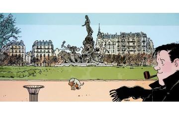 Affiche d'art 'Nestor Burma, 11ème arr. de Paris' - Jacques Tardi