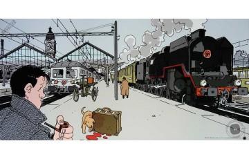 Affiche d'art 'Nestor Burma, 12ème arr. de Paris' - Jacques Tardi