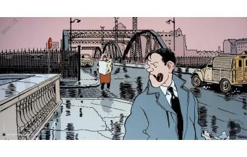 Affiche d'art 'Nestor Burma, 13ème arr. de Paris' - Jacques Tardi