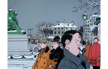 Affiche d'art 'Nestor Burma, 14ème arr. de Paris' - Jacques Tardi