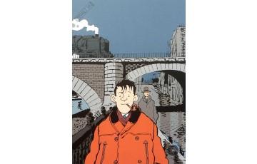 Affiche d'art 'Nestor Burma, 19ème arr. de Paris' - Jacques Tardi