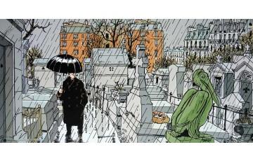 Affiche d'art 'Nestor Burma, 20ème arr. de Paris' - Jacques Tardi