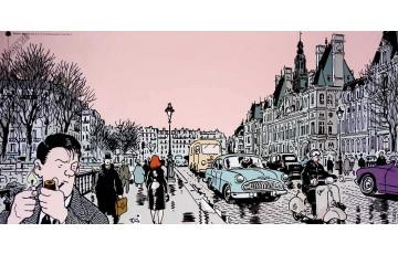 Affiche d'art 'Nestor Burma, 4ème arr. de Paris' - Jacques Tardi