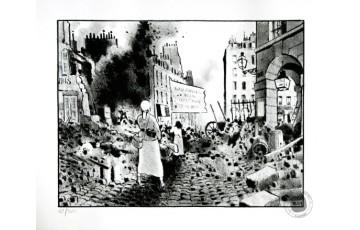 Lithographie N°/Signée 'Le cri du peuple, La commune III' - Jacques Tardi